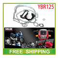 YBR YBR125 125cc engine gasket paper cylinder head gasket full set motorcycle accessories free shipping