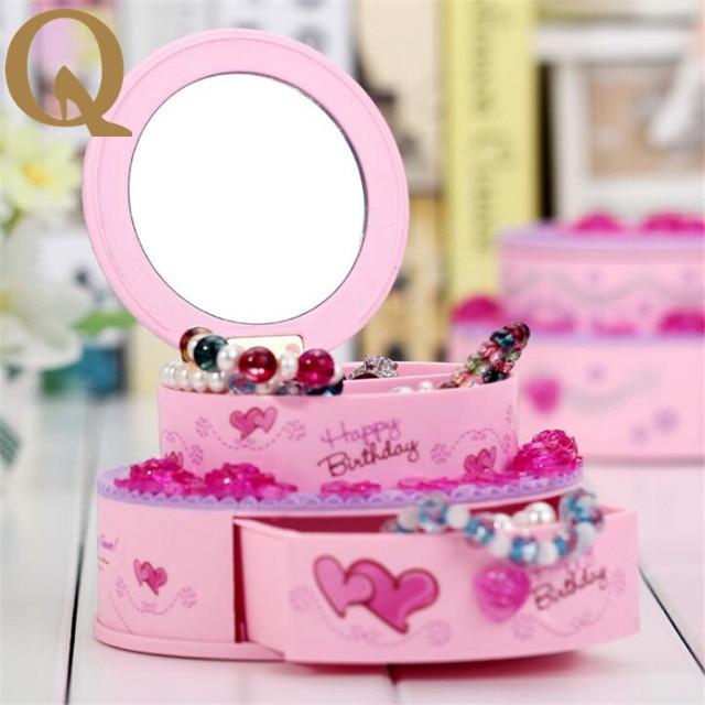 Valentines Day gift 2017 creative birthday cake box style mirror