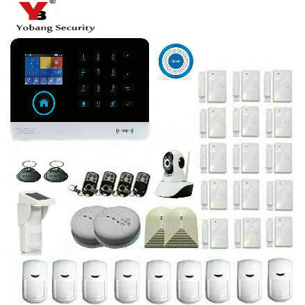YoBang Security Home Wireless GSM Security Alarm System Outdoor Solar Sensor Mobile Sensor Wireless Alarm Smoke Detector Alarm.