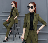 Autumn /winter the new small fragrant suit lady 2018 thin lady temperament self cultivation occupation two piece/ set women suit