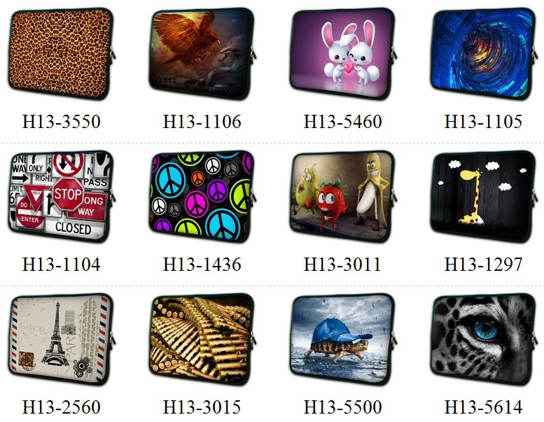 2016 Multiple New Design Laptop Sleeve Case Bag Soft Neoprene Pouch Fashion For Macbook Air/Pro/Retina 13 13.3 Customizable image