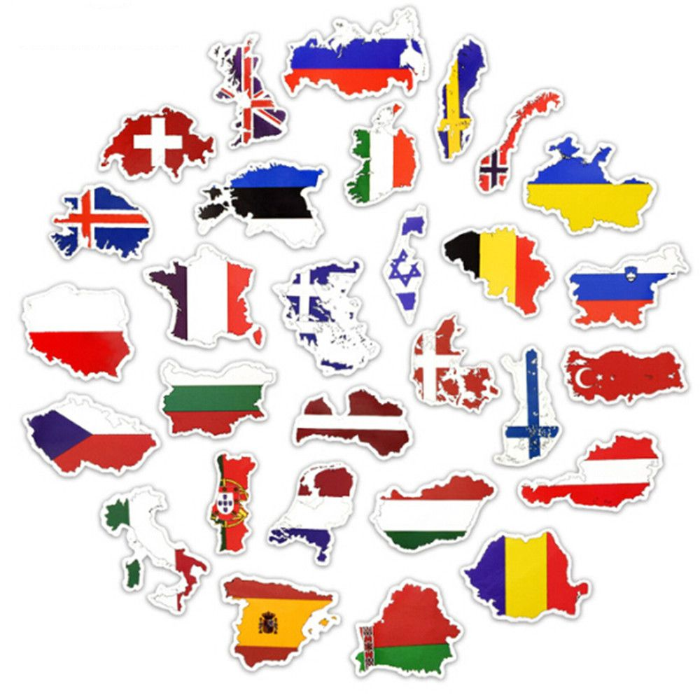 50 PCS National Flags Stickers Toys Countries Map Travel Waterproof Sticker to DIY Scrapbooking Suitcase Laptop Car Motorcycle(China)