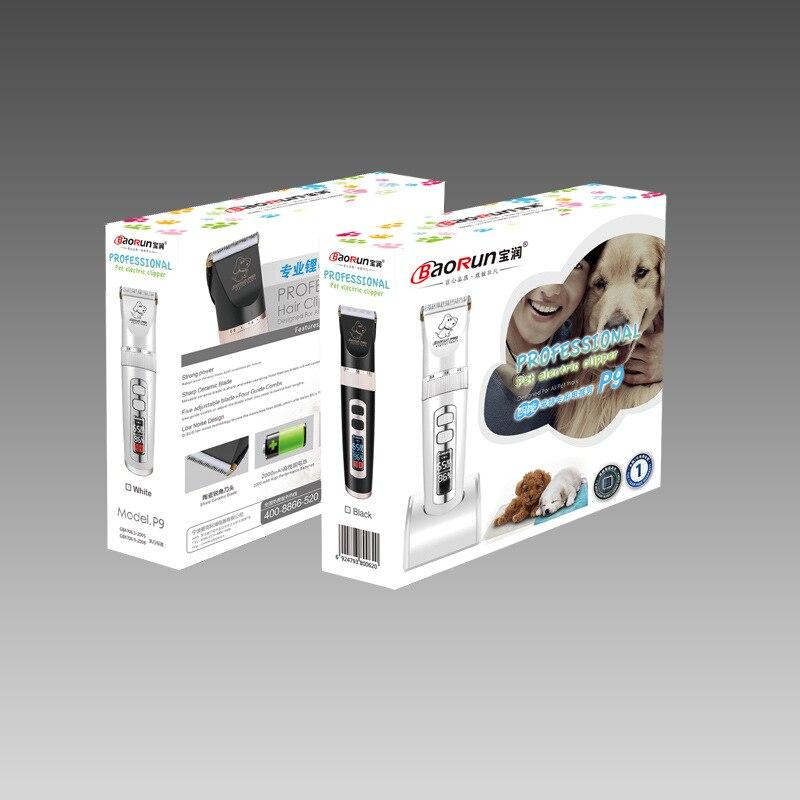 Baorun P9 tondeuse chiens professionnel LCD écran Pet chat tondeuses électrique toilettage tondeuse Rechargeable coupe de cheveux Machine Animal - 6