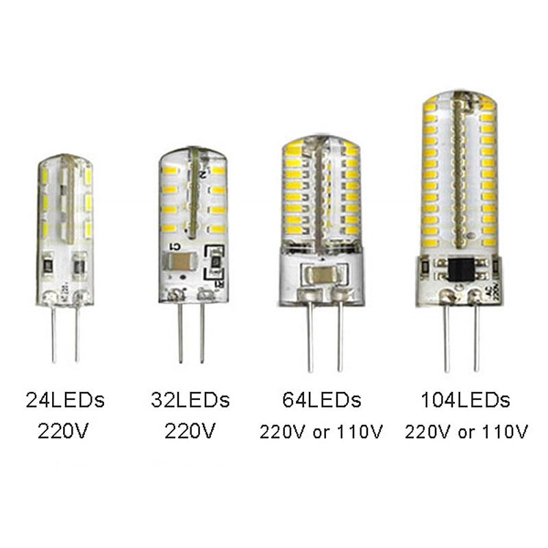 LED G4 Lamp Bulb AC 220V 110V 5W 8W 10W 15W SMD 24 64 104LEDs Lighting Lights Replace Halogen Spotlight Chandelier