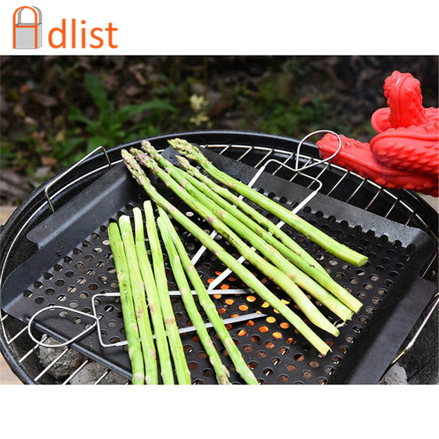 4pcs 8 Stainless Veggie Raft Double Wide Skewers Small Steel Bbq Grill Clips