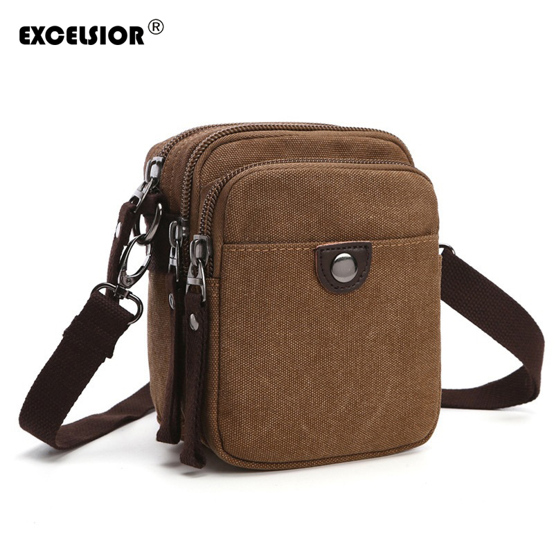 EXCELSIOR Vintage Men's Messenger Bags Canvas Shoulder Bag Fashion Men Business Crossbody Bag Travel Bolsa Masculina Handbag men handbags women canvas shoulder messenger bags large capacity travel bag retro ladies handbag straps bolsa masculina vintage