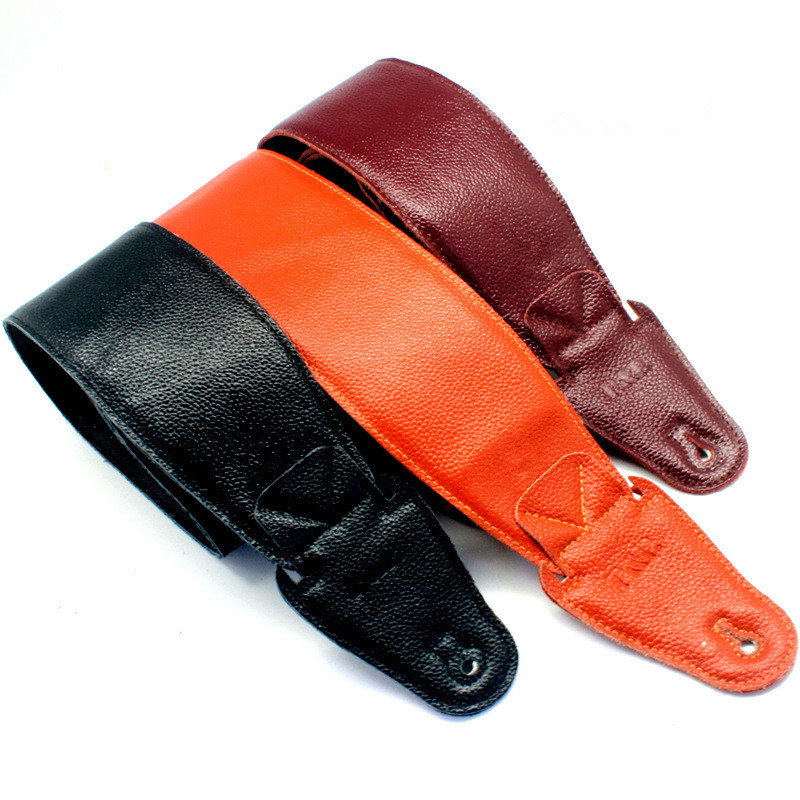 Genuine Cow Leather Cowhide Soft Durable Guitar Strap Acoustic Electric Guitar Strap Bass Strap Adjustable Guitar Belt S858 classical genuine leather bass guitar belt strap electric bass strap length adjustable guitar belt strap with super handcraft