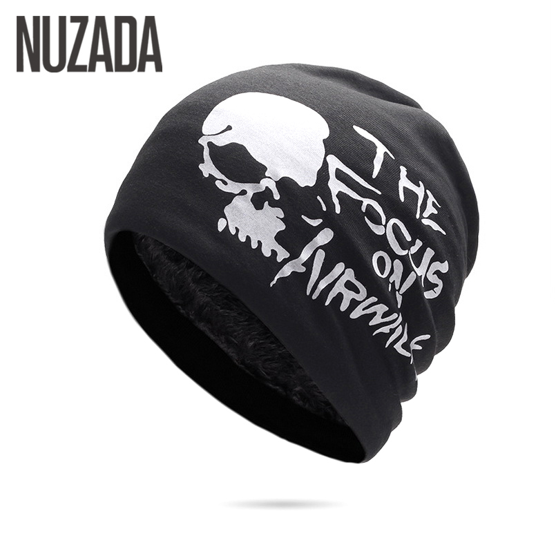 Brand NUZADA Warm Plus Fluff Men Women   Skullies     Beanies   Hedging Cap Knitted Double Layer Fabric Winter Caps Bonnet Hat