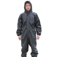 עבודה עמיד למים סרבל ברדס מעיל גשם סרבל אנטי שמנוני אבק הוכחה ספריי צבע בגדי הוד מגן בגדי עבודה