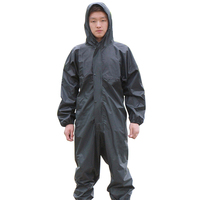 Working Coveralls Waterproof Hooded Raincoat Overalls Anti oily Dust proof Paint Spray clothing Hood Protective Work clothes