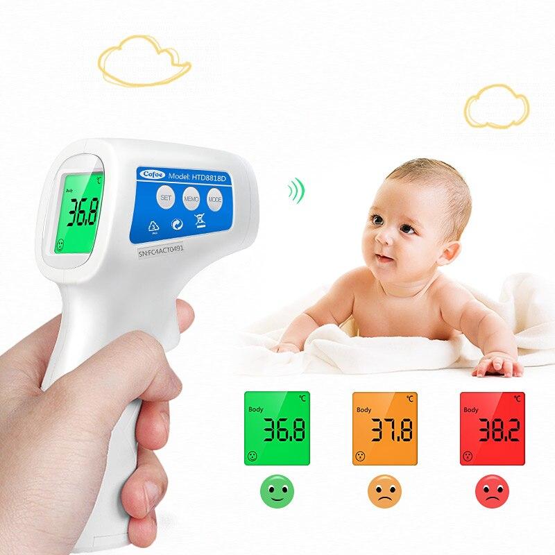 Cofoe Infravermelho Testa Termômetro Melhor Bebê Termômetro LCD Termômetro Digital de Não-contato Dispositivo de Medida de Temperatura Do Corpo