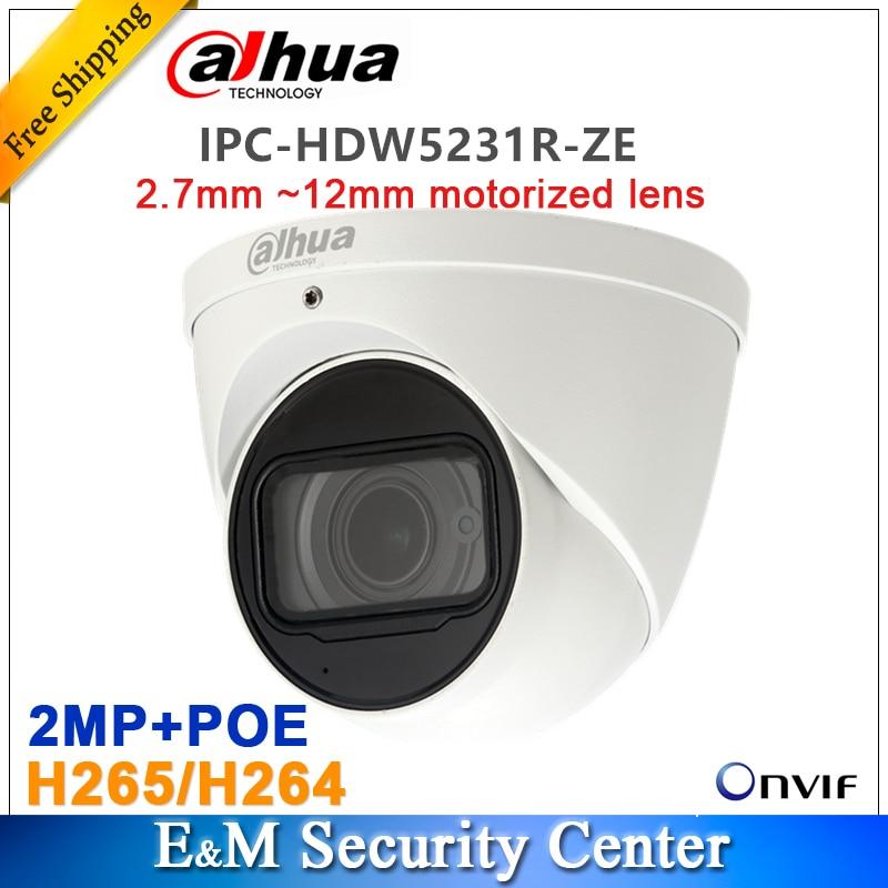 Original dahua english IPC HDW5231R ZE replace IPC HDW5231R 2MP WDR IR Eyeball Network Camera 2