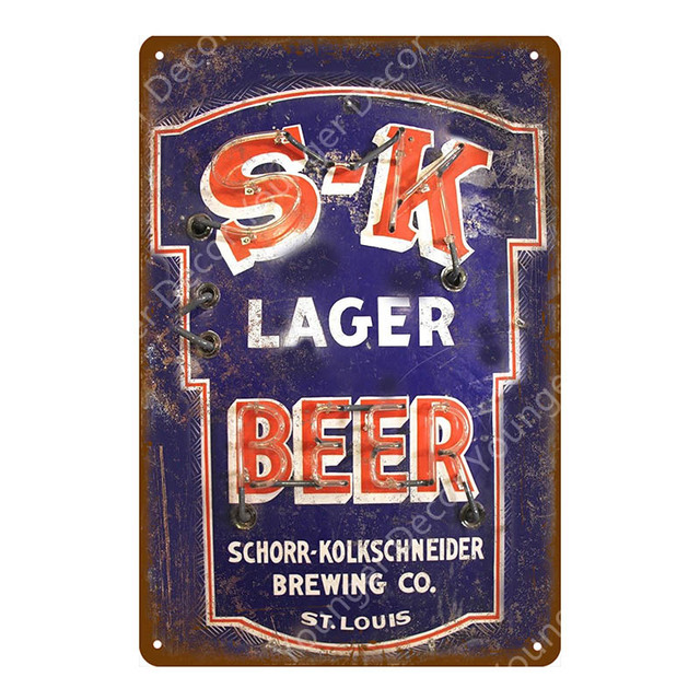 """TIN SIGN /""""Old South/""""  Beer Mancave Wall Decor"""