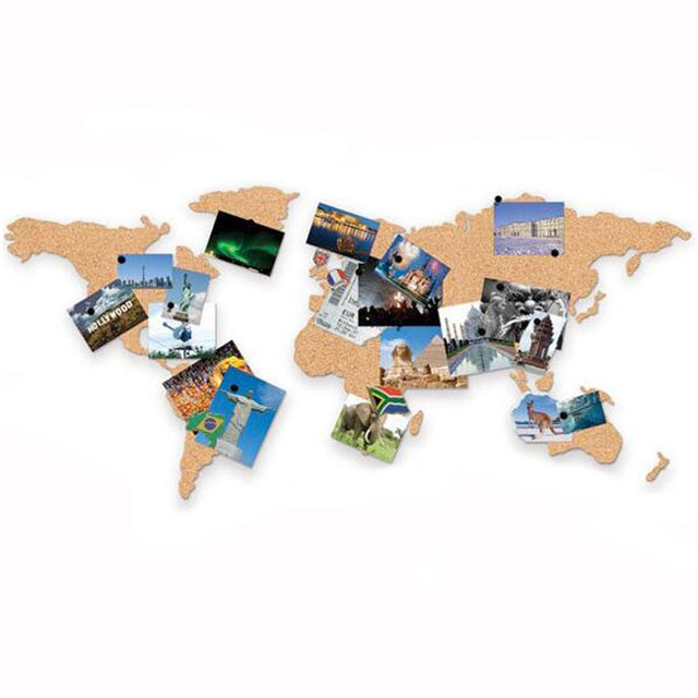 Online shop cork wood phellem wall world map office school home image gumiabroncs Image collections