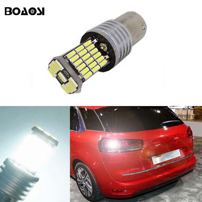 Boaosi 1x BA15S 1156 светодиодные задние Реверсивный Фонарь лампы 4014SMD кри чип высокой Мощность для Citroen <font><b>C2</b></font> C3 C4 C8 Elysee Пикассо ZX