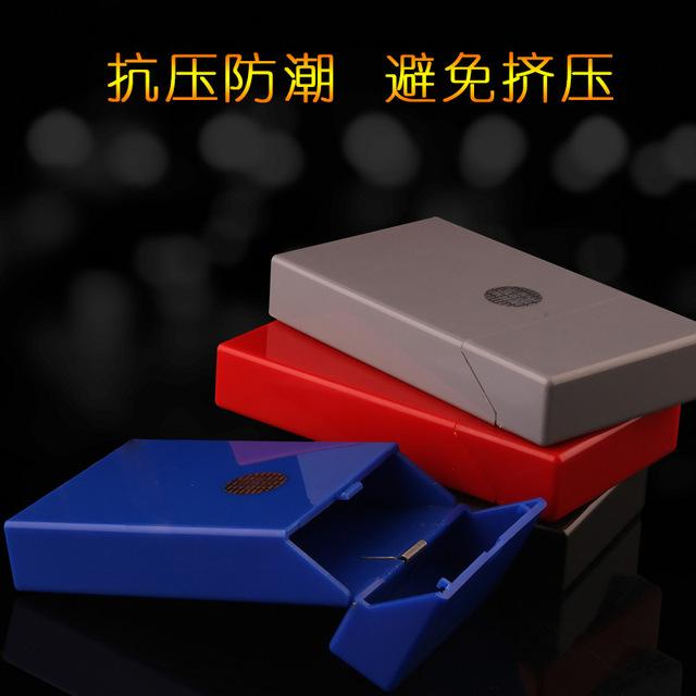 Portable Automatic Ladies Packing Cigarette Box Compression Thicken 20 Pack Boxes Cigarette Case Cover Men Cigarette accessories