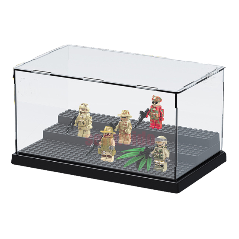 Compatible Legoings LELE 79150 Figures Deluxe Acrylic Collectible Item  Building Blocks Display Mini Box Display Case Bricks
