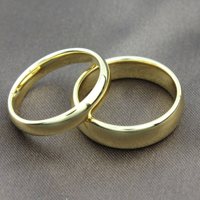Купить женское и мужское обручальное кольцо золотое из вольфрамовой