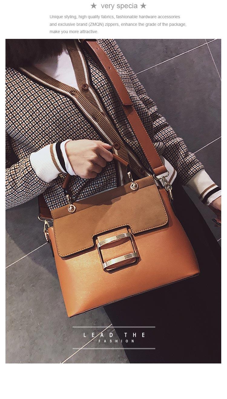 Zmqn Women Bag Vintage Shoulder Bags 2018 Buckle Pu Leather Handbags Crossbody For Famous Brand Spring Sac Femme C219