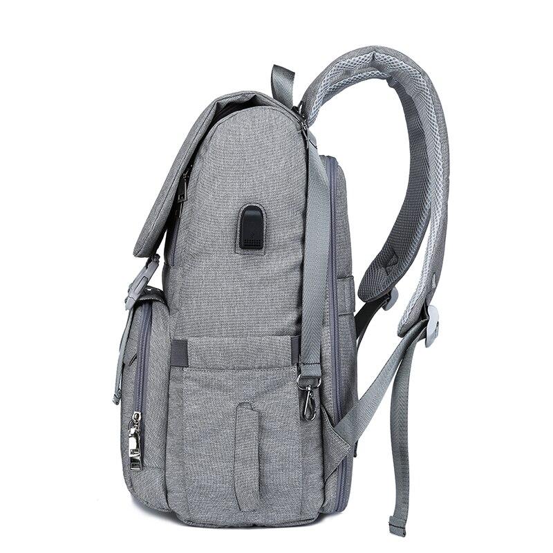 Bolsa de pañales con interfaz USB gran bebé pañal bolsa de momia maternidad mochila de viaje para mamá de bolsas - 2