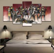 HD Print Painting 5 Pieces APEX Game Picture Top-Rated Canvas Wall Art Decorative Modular Framework Modern Artwork