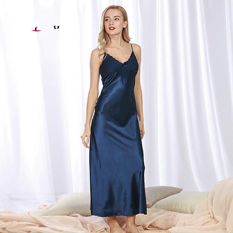 Silk Gowns For Women: Aliexpress.com : Buy Sexy Elegant Vintage Long Black Blue