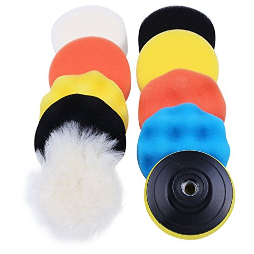 все цены на 10pcs/set Automobile Car Polishing Pad Set Vehicle Cleaning Washing Polish Sponge Wheel онлайн
