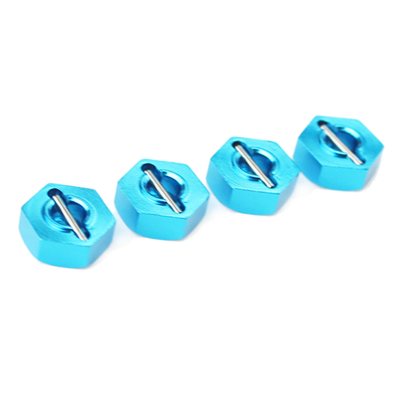 1Set/4Pcs Metal Hexagon Set For Wltoys 12428 12423 1/12 Speed Rc Car Feiyue Fy-01/02/03/04/05 Upgrade Parts