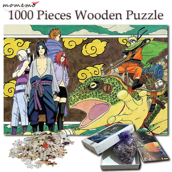 MOMEMO 1000 Pieces Puzzle Cartoon Naruto Wooden Toys Anime Jigsaw Puzzles for Adults Games Kids Children