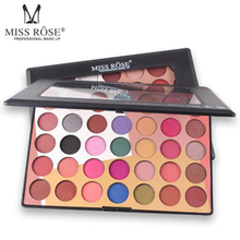 MISS ROSE35 color network red eyeshadow matte high pearlescent earth color eye shadow girl makeup palette