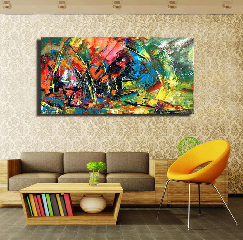 Wall Art Cuadros Wild The Boat Race Wall Oil Painting Prints On Canvas No Frame Pictures For Living Room Home decor No Framed