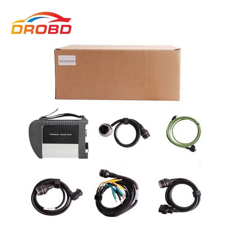 Meilleur outil de Diagnostic de qualité C4 MB SD connect compact 4 SD C4 connexion avec carte WIFI avec câble complet 2016.3 logiciel