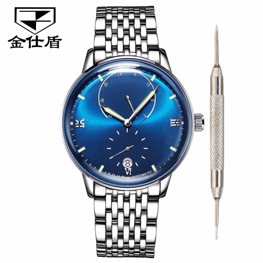 JSDUN Mens watches top brand luxury Automatic watch men Waterproof 3D Sapphire Mirror Fashion Mechanical Watch relogio masculino
