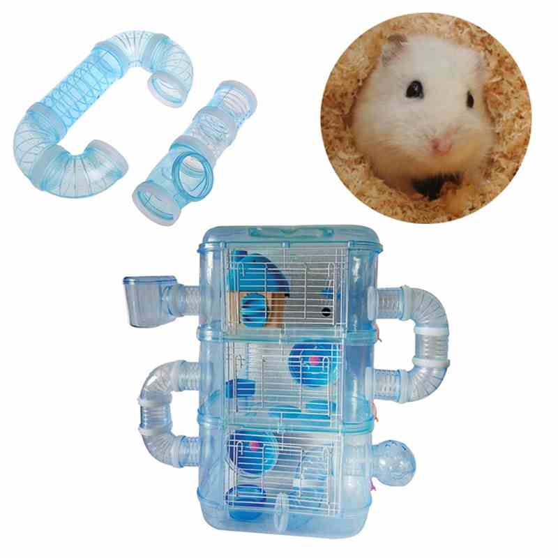 Hamster Accessories External DIY Pipeline Tunnel Fittings Color Blue White Pink Green Hamster Tunnel ...