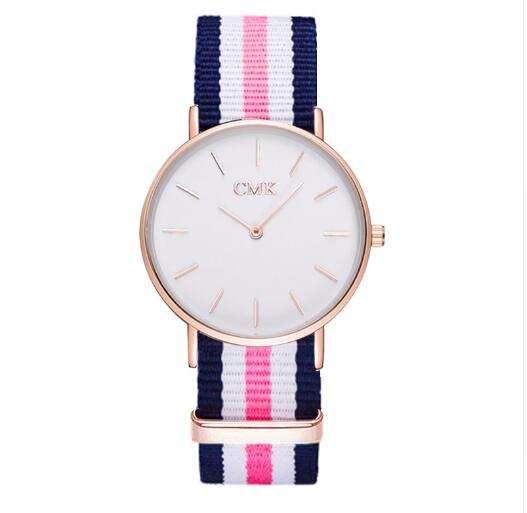 2019 Brand Clock Woven strap sports watches Metal button women's watch Casual Couple Various styles color Quartz Wristwatches
