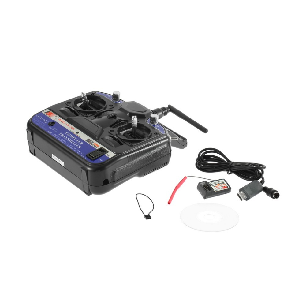 FLY SKY 2.4G FS-CT6B 6 Channels Transmitters Model Receiver Stability Control For Airplane Helicopter Glider UAV RC Accessories frsky horus x10 transmitters built in ixjt module 2 4g 16ch remote control for rc helicopter drone uav airplane