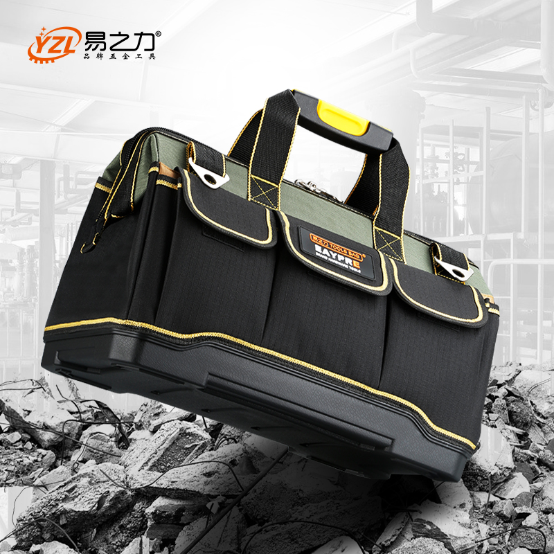 13 15 17 19 Upgrade Large Capacity Hand Tool Bag Multi-function Men Crossbody Tool Storage Bag Pouch Home Repair Toolkit Tool Organizers
