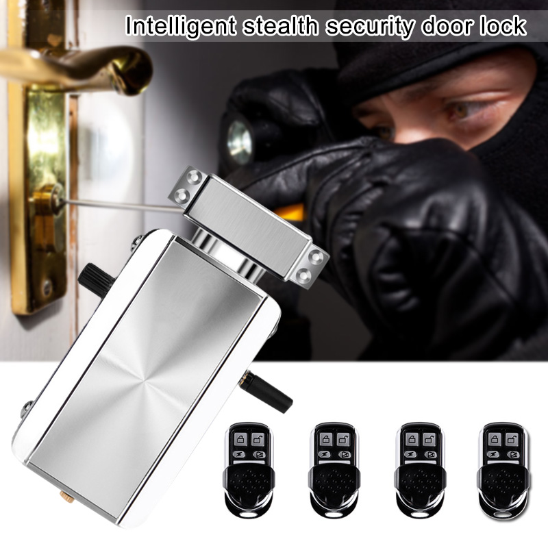 Wireless Remote Control Door Lock Anti theft Lock Automatically Intelligence Household XR649