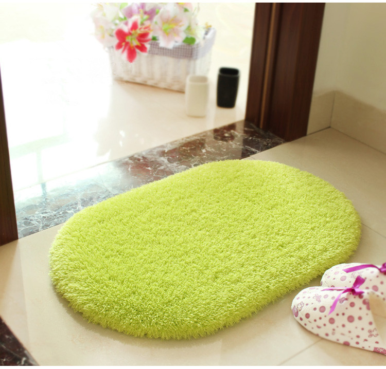 50*80 bathroom carpeted floor mats green area rug for ...