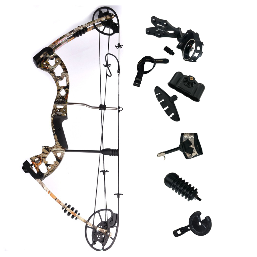 купить M125 Junxing Hunting Compound Bow Archery with 30-70lbs Lbs Draw Weight for Adult Outdoor Shooting and Fishing по цене 18298.13 рублей