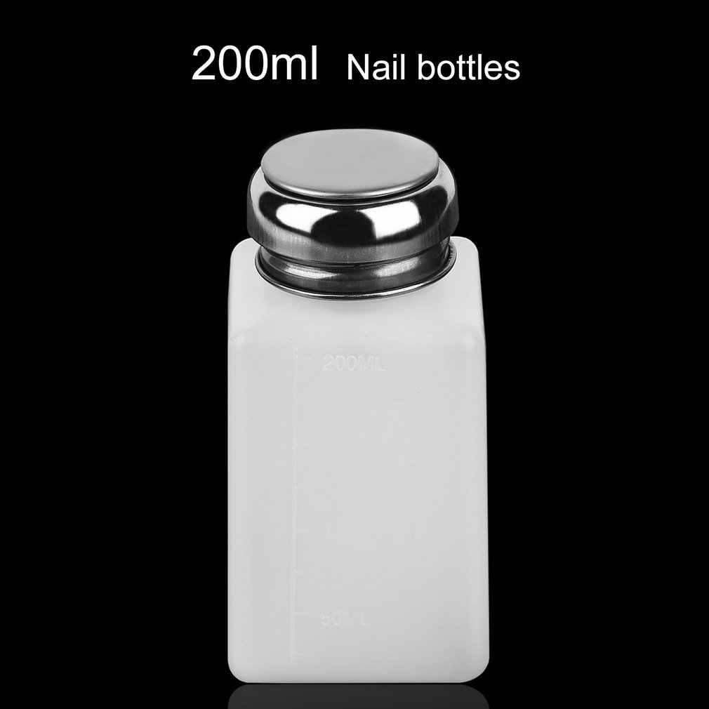 200ML Liquid Alcohol Press Nail Polish Remover Dispenser Pumping Bottle NShopping
