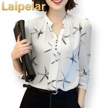 Laipelar Hot Sale 2018 Summer New Arrival Female Long-Sleeve Blouse Women Shirt Chiffon Ruffle Tops Camisa Renda Blusa