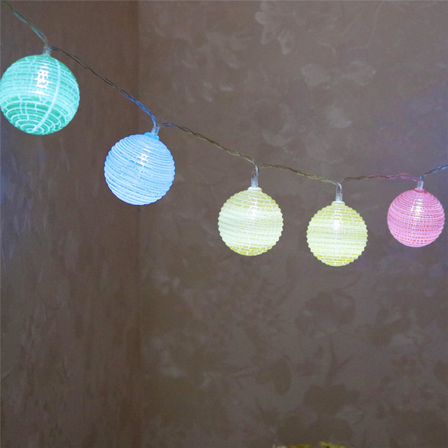 delicore fashion holiday lighting 10 led multicolor ball string lights wedding garden party valentines day decoration - Valentine String Lights