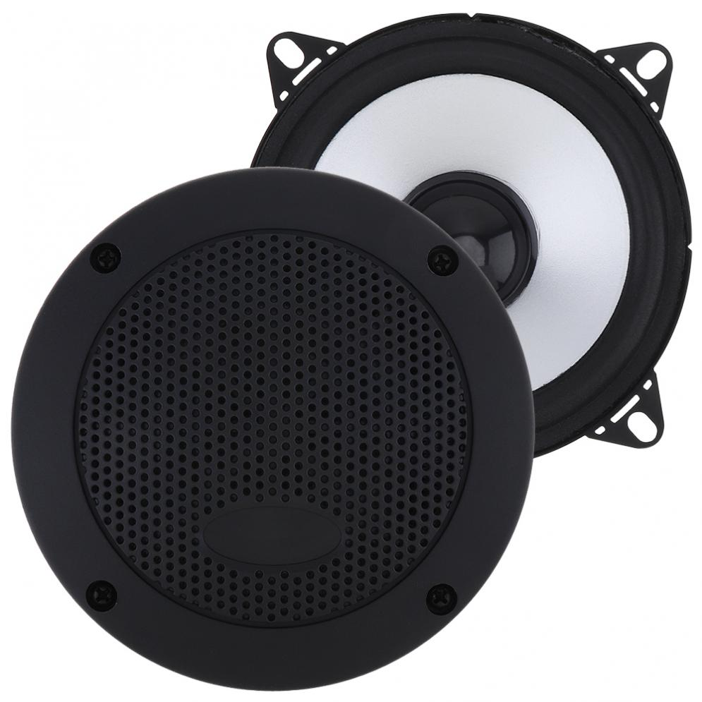 2pcs 4 Inch 80W Car HiFi Coaxial Speaker Vehicle Door Auto Audio Music Stereo Full Range Frequency Speakers for Car in Coaxial speakers from Automobiles Motorcycles