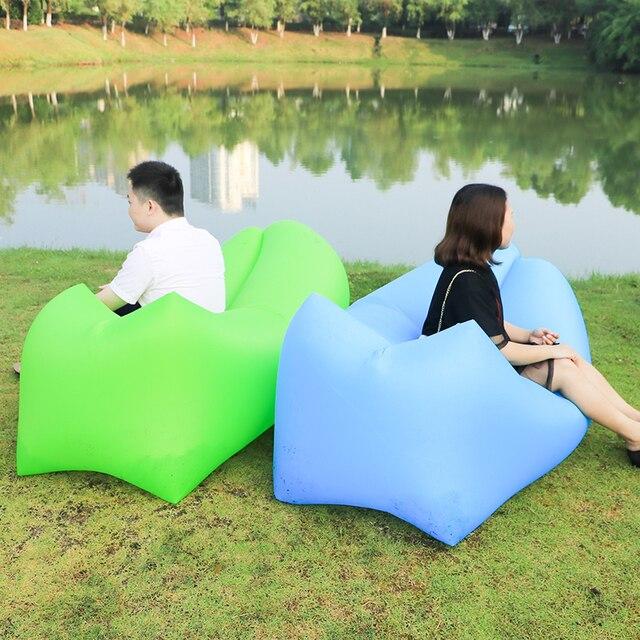 Fast Inflatable lazy sofa bag Laybag Camping Air Sofa Sleeping Bag Portable lazy bag Beach Lounge Bed Chair Nylon sofa Lounger