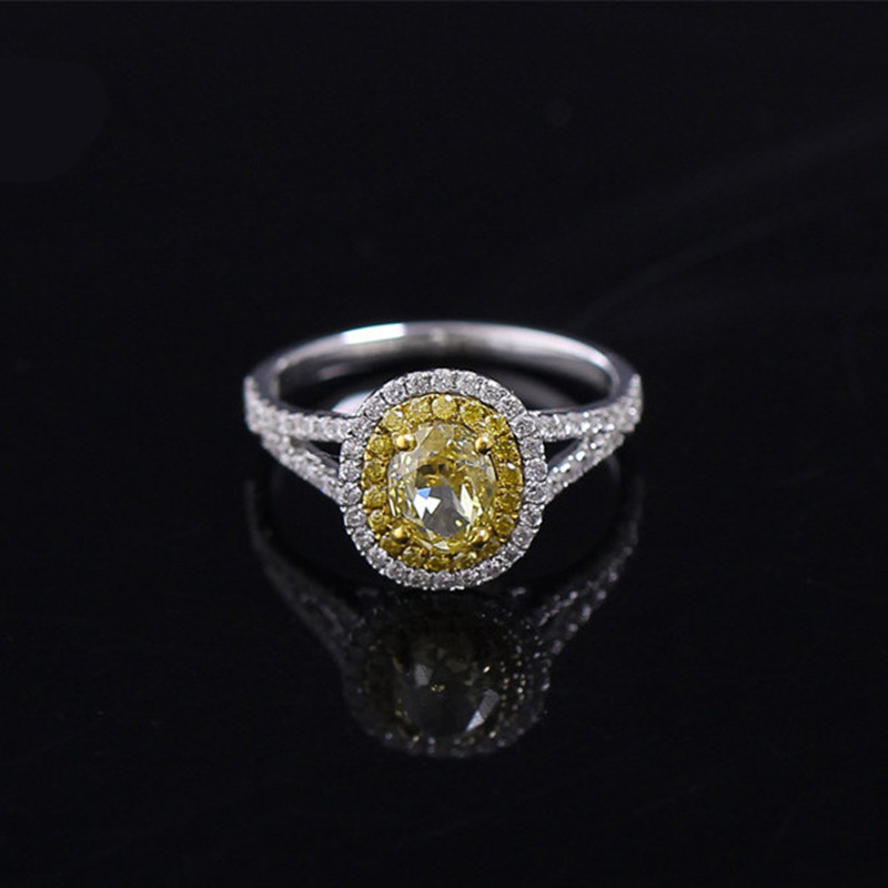 classic white gold plated wedding cz yellow zircon ring vintage gifts for ladies fine style jewelry - Cheap Vintage Wedding Rings