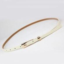 Fashion Thin Leather Narrow Waistband Belt Women Skinny Waist Belt Lady Girl Decorative belt Candy color belt