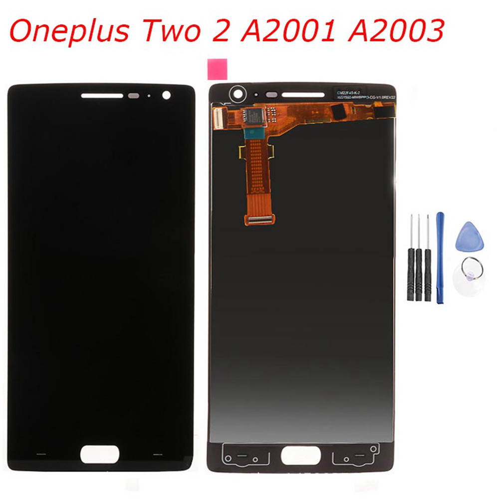 LCD Display Touch <font><b>Screen</b></font> Digitizer Assembly for <font><b>Oneplus</b></font> <font><b>2</b></font> A2001 A2003 <font><b>Replacement</b></font> Mobile Phone LCDs For <font><b>Oneplus</b></font> Two Repair Parts image