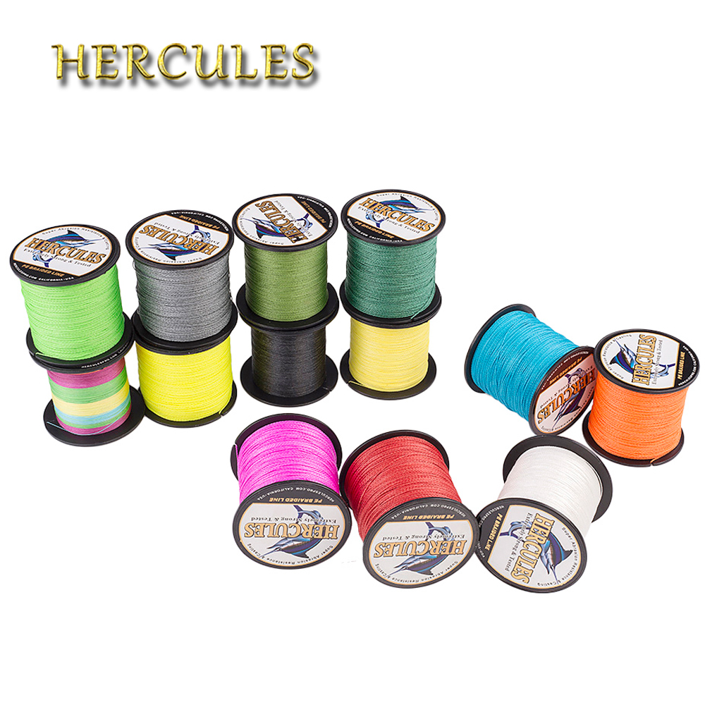 Hercules 100m Fishing Line 4 Strands PE Carp Fishing Cord Pesca Braided Wire 6-100LB Peche 13 Colors Strong Fishing Accessories