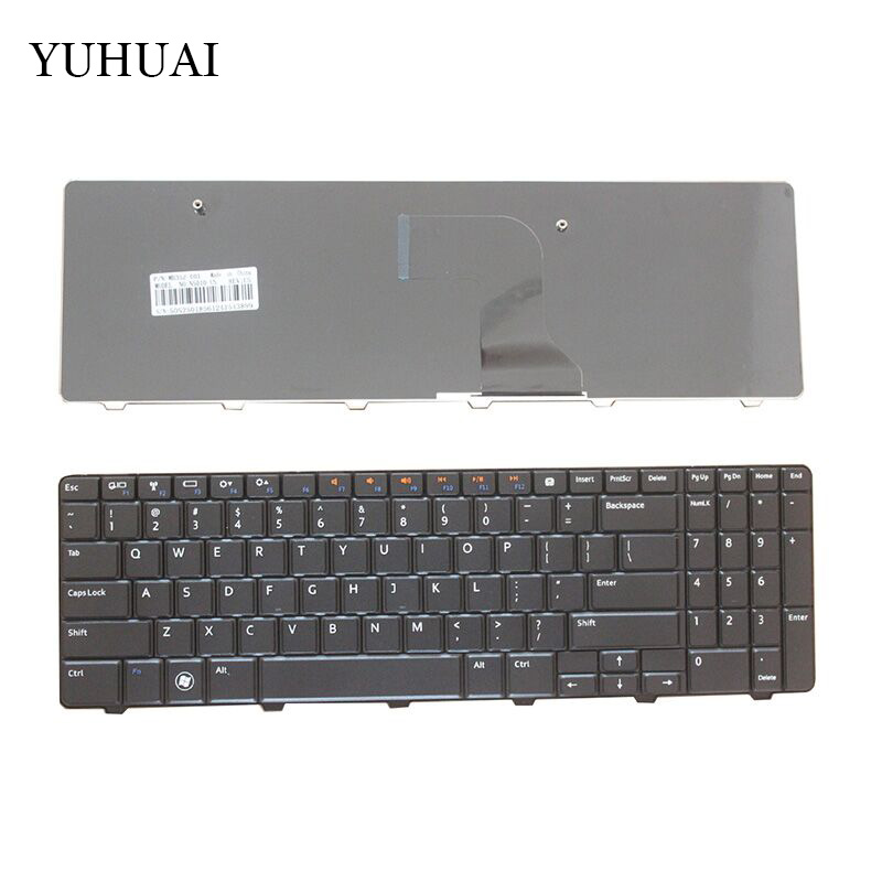 NEW Keyboard for <font><b>Dell</b></font> <font><b>Inspiron</b></font> 15 15R N M <font><b>5010</b></font> N5010 M5010 0Y3F2G NSK-DRASW 0JRH7K 9Z.N4BSW.A0R US Black laptop keyboard image